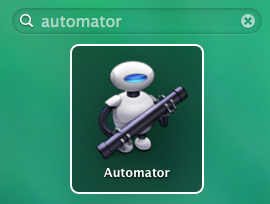 Launch macOS Automator
